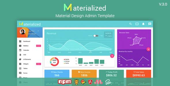 Materialize - Material Design Admin Template - Admin Templates Site Templates