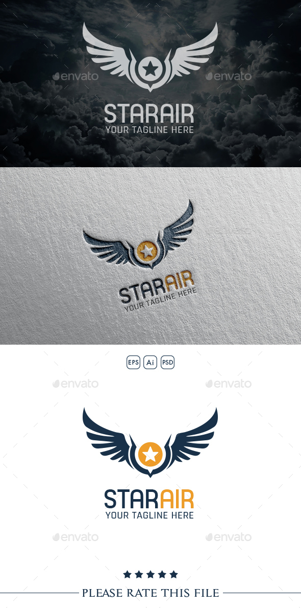 Wings Logo - Vector Abstract