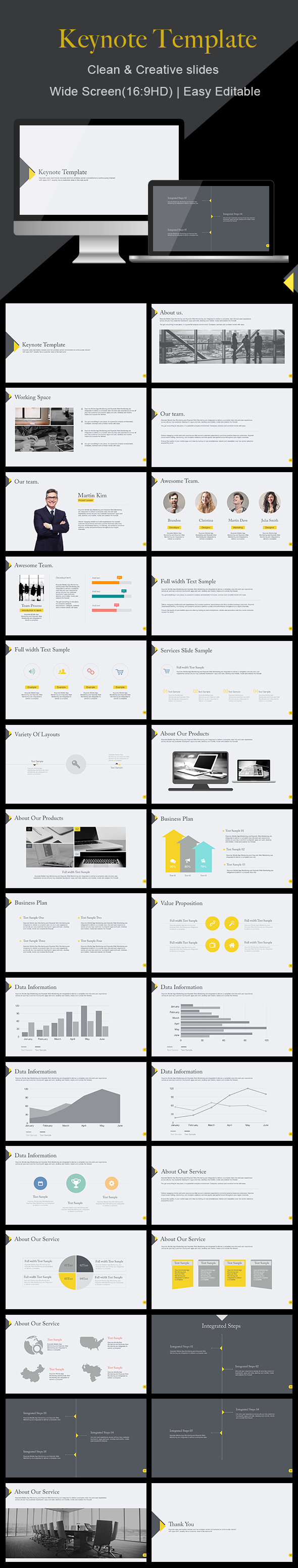 Clean - Keynote Template - Business Keynote Templates