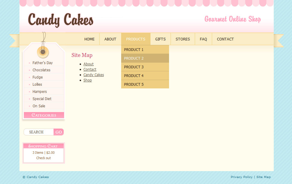 chocolate coffee cupcakes html by dtbaker themeforest