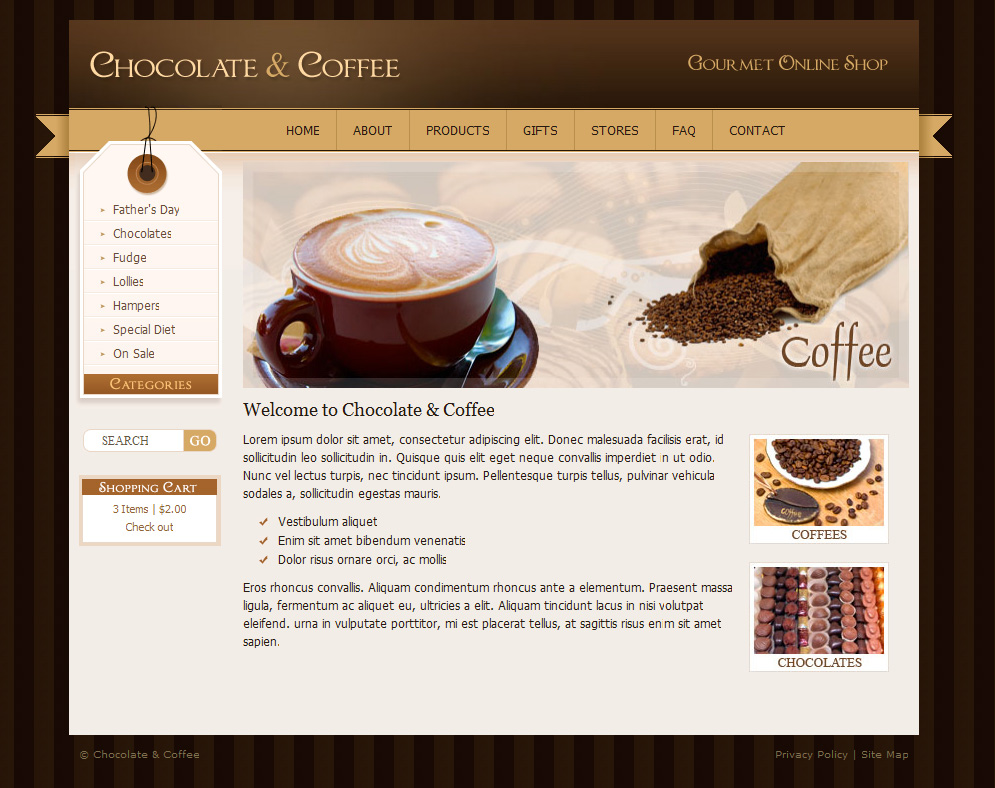 Chocolate Coffee & Cupcakes - HTML by dtbaker   ThemeForest