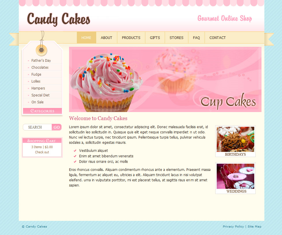 Chocolate Coffee & Cupcakes - HTML by dtbaker | ThemeForest