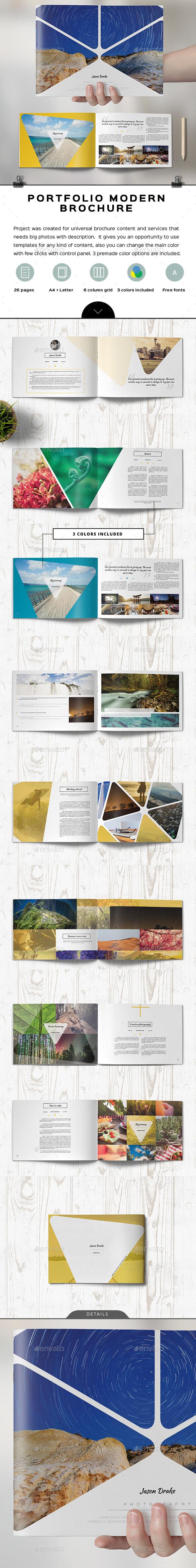 Portfolio Modern Triangle Catalog / Brochure - Portfolio Brochures