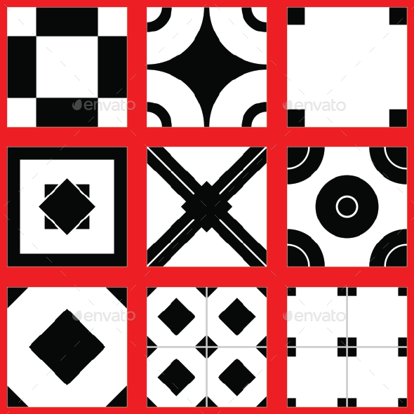 9 Tiles Floor - 3DOcean Item for Sale