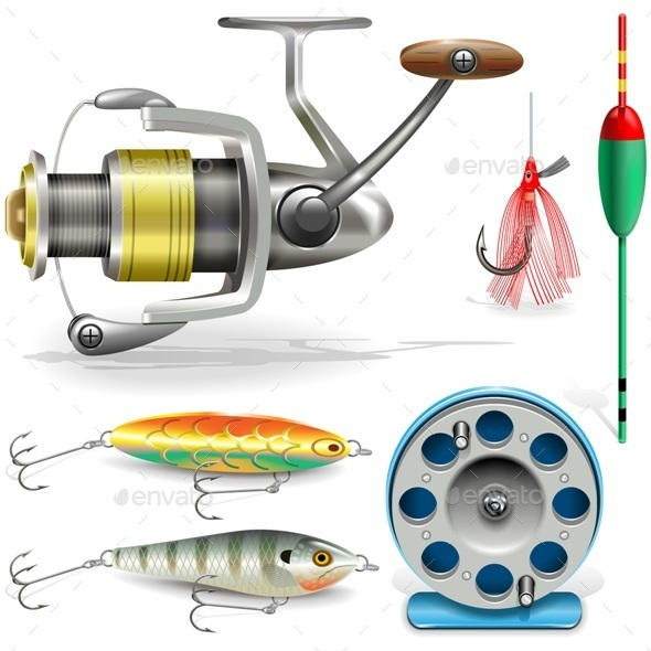 Vector Fishing Tackle - Sports/Activity Conceptual