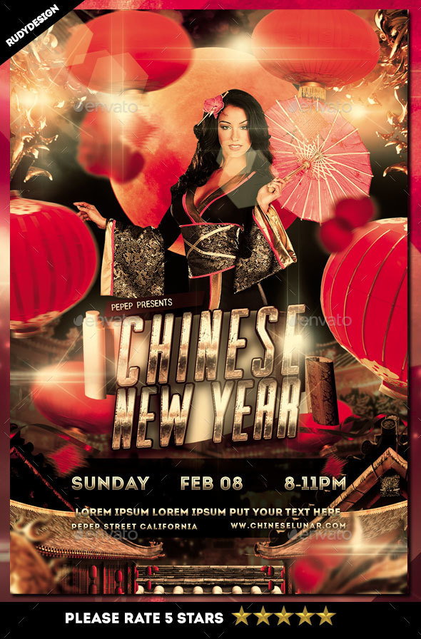Chinese Lunar New Year Flyer - Holidays Events