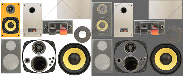 Loudspeakers kit 01 - Technology Isolated Objects