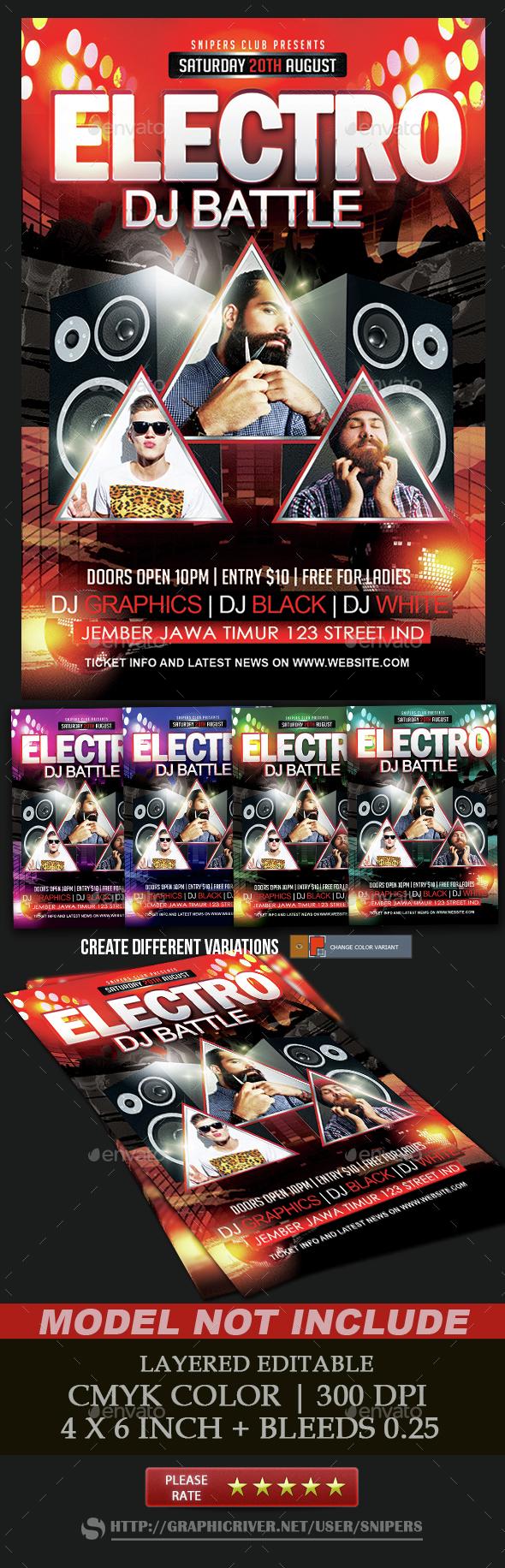 Electro Dj Battle - Events Flyers