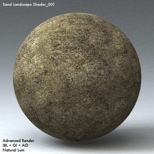 Sand Landscape Shader_001 - 3DOcean Item for Sale