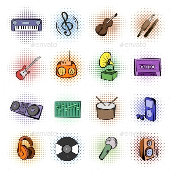 Music Comics Icons - Miscellaneous Icons
