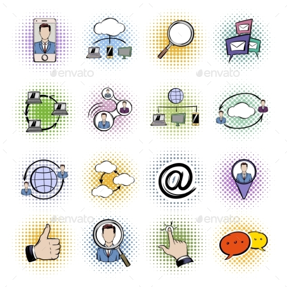 Social Network Comics Icons Set  - Miscellaneous Icons