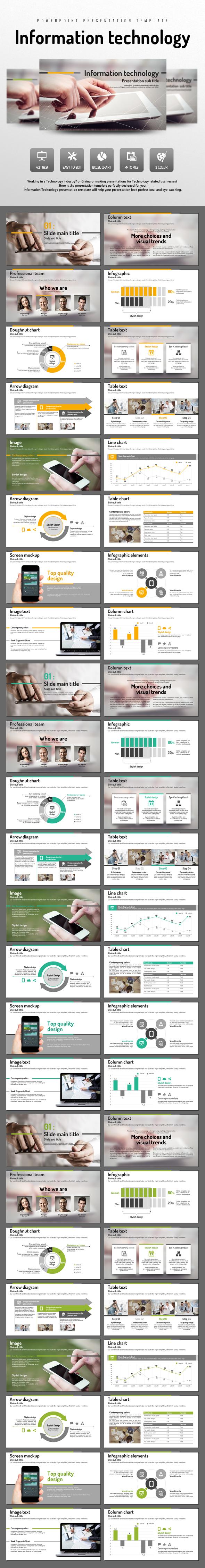 Information Technology - PowerPoint Templates Presentation Templates