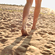 Woman Walking In The Sand - VideoHive Item for Sale