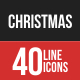 Christmas Filled Line Icons