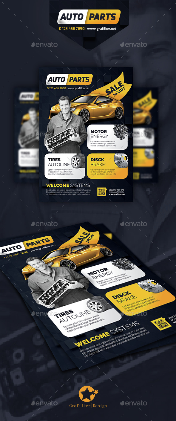 Auto Spare Parts Flyer Templates - Corporate Flyers