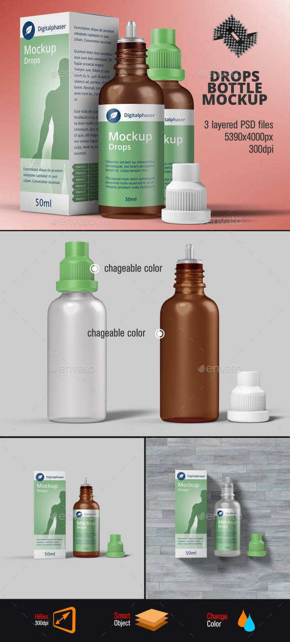 Dropper Bottle Mockup - Packaging Product Mock-Ups