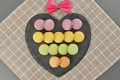 Still life macarons,heart shape, bow.Love concept - PhotoDune Item for Sale