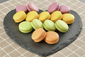 Still life macarons, key shape,heart.Love concept - PhotoDune Item for Sale