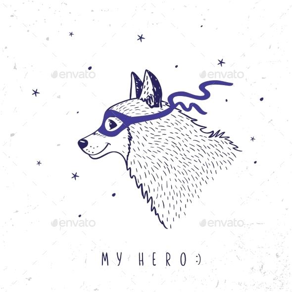 Husky My Hero - Animals Characters