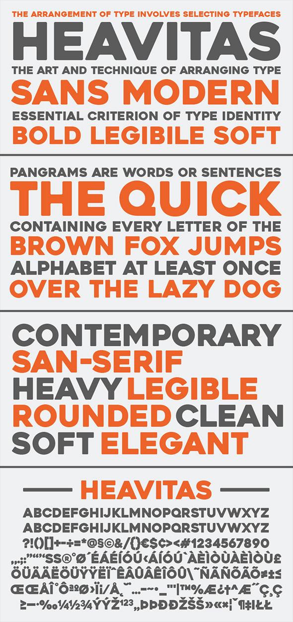 Heavitas Typeface - Sans-Serif Fonts
