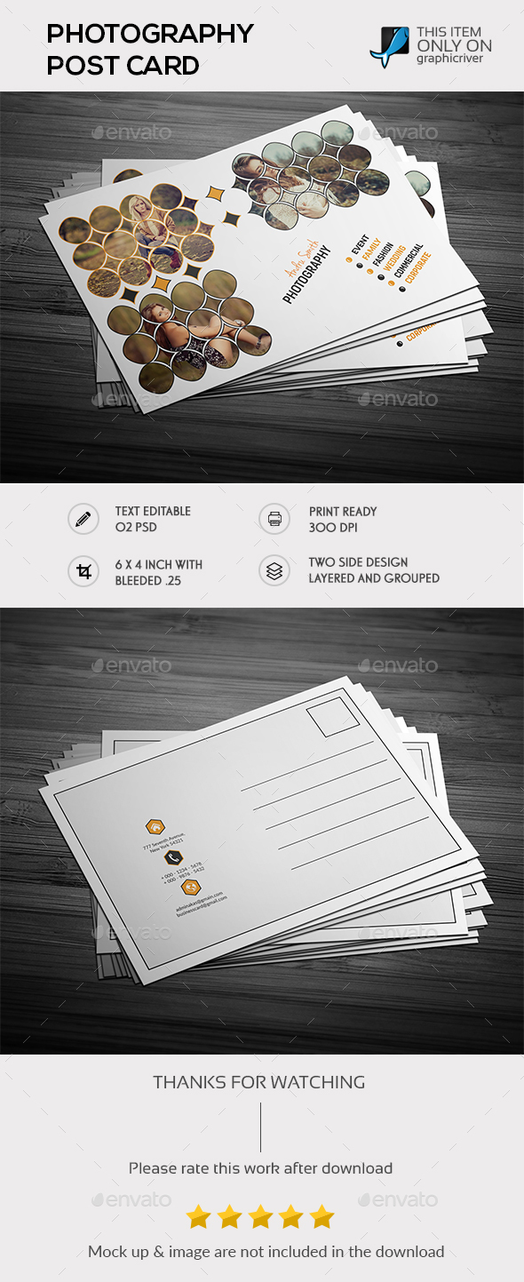 Photography Post Card Templates - Cards & Invites Print Templates