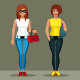 Female in Cartoon Style  - GraphicRiver Item for Sale