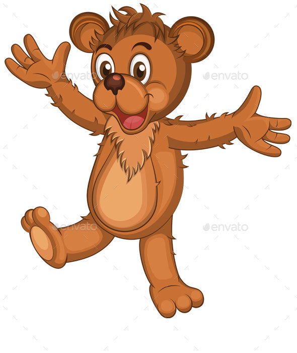 Brown Cartoon Bear - Animals Characters