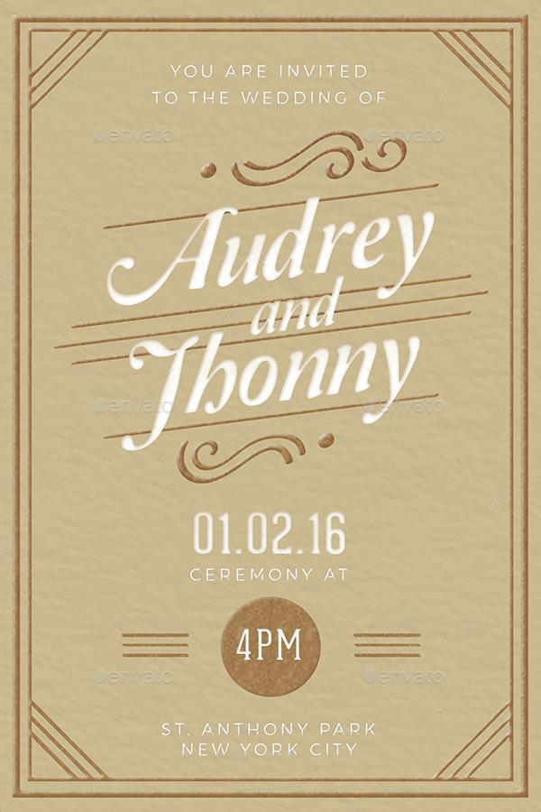 Penguin Book Cover Wedding Invitation Template : Elegant wedding invitation by vynetta graphicriver