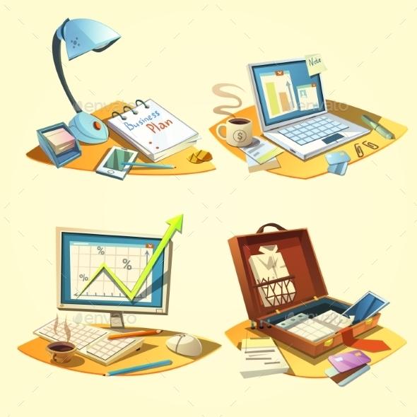 Business Retro Set - Concepts Business
