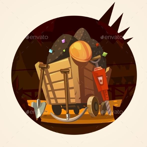 Mining Cartoon Illustration - Miscellaneous Vectors