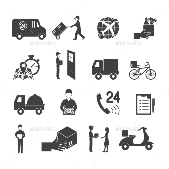 Delivery Icon Set - Business Icons