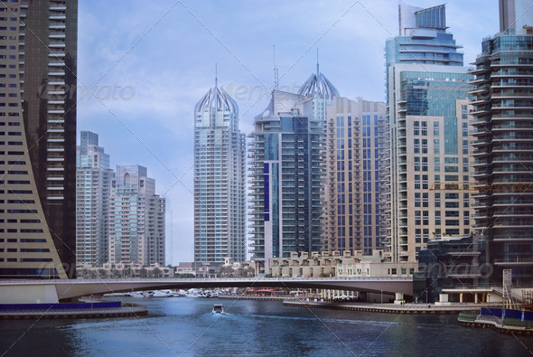 Dubai Marina - Stock Photo - Images