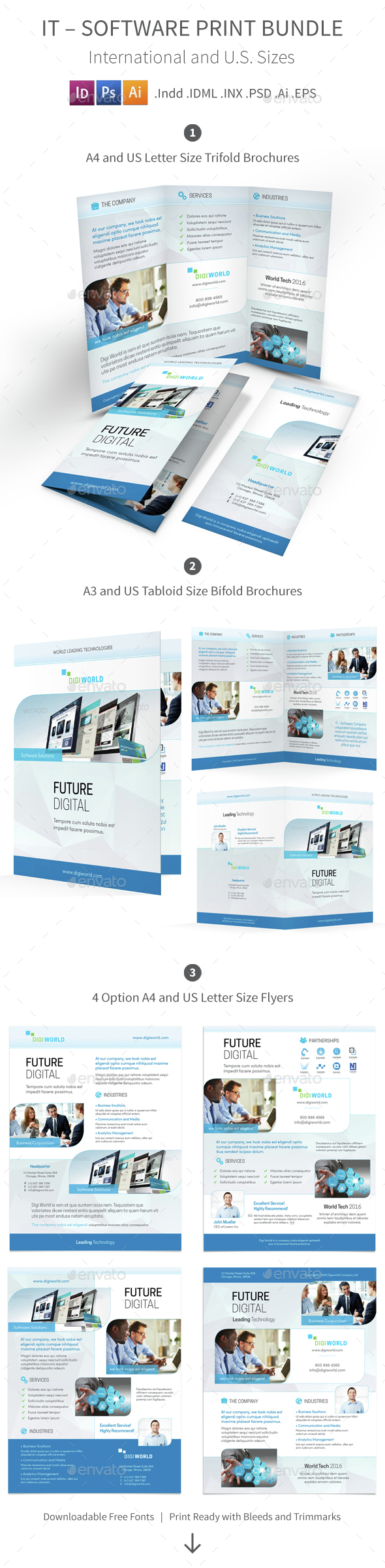 IT – Software Print Bundle 4 - Corporate Brochures