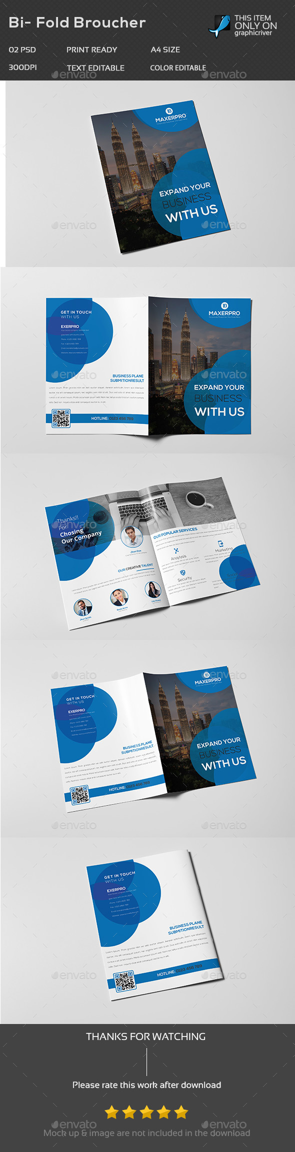 Corporate Brochure Template - Stationery Print Templates