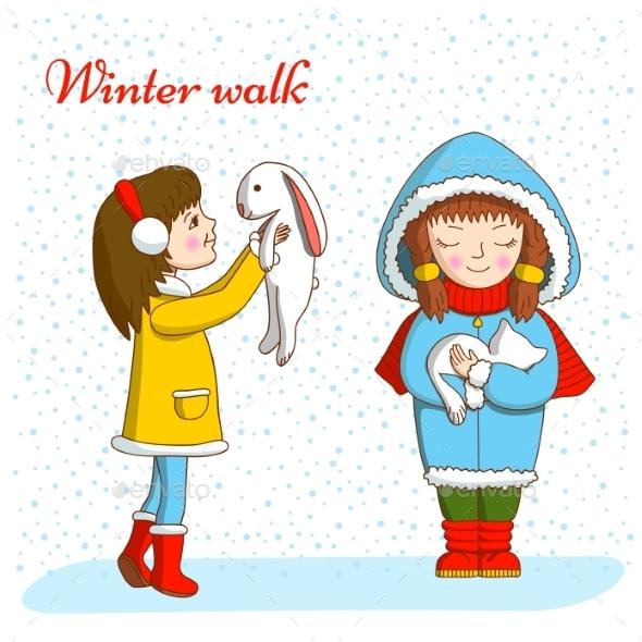Winter Walk - Animals Characters