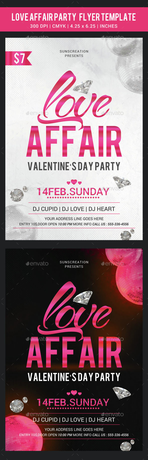 Love Affair Party Flyer Template - Clubs & Parties Events