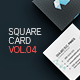 Square Business Card 4 - GraphicRiver Item for Sale