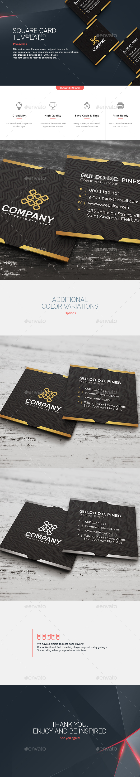 Square Business Card 5 - Corporate Business Cards