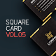 Square Business Card 5 - GraphicRiver Item for Sale