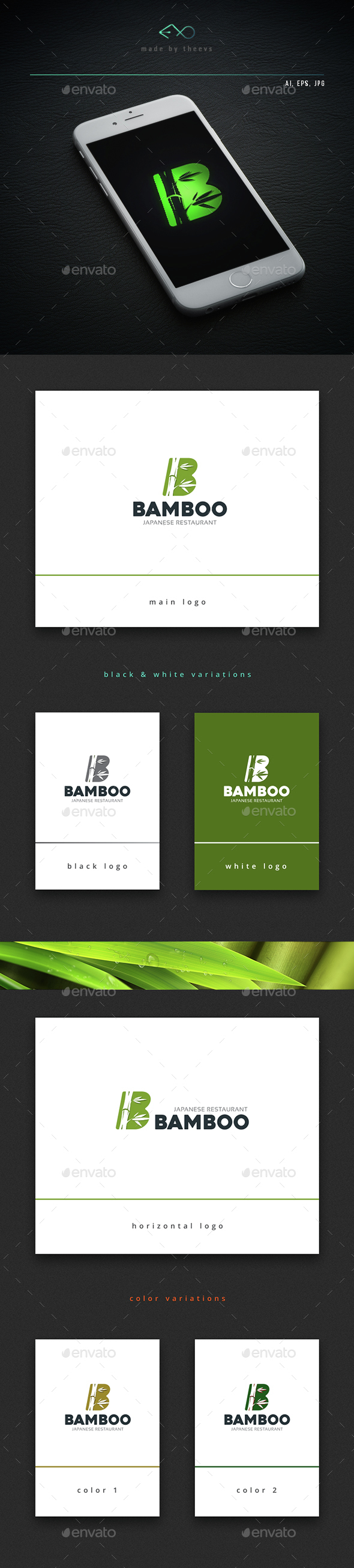 Bamboo - Letters Logo Templates