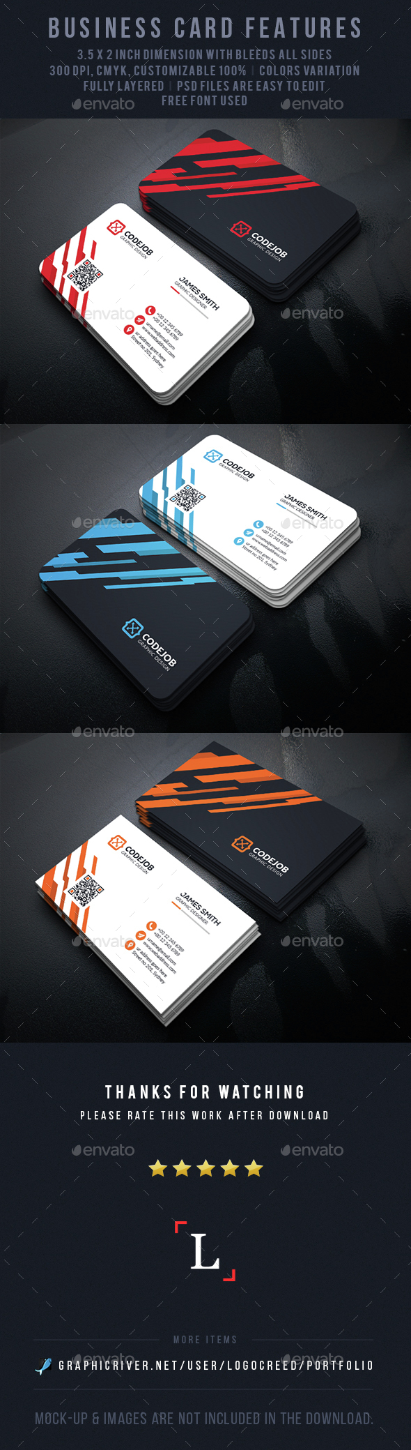 Abstract Corporate Business Card - Business Cards Print Templates