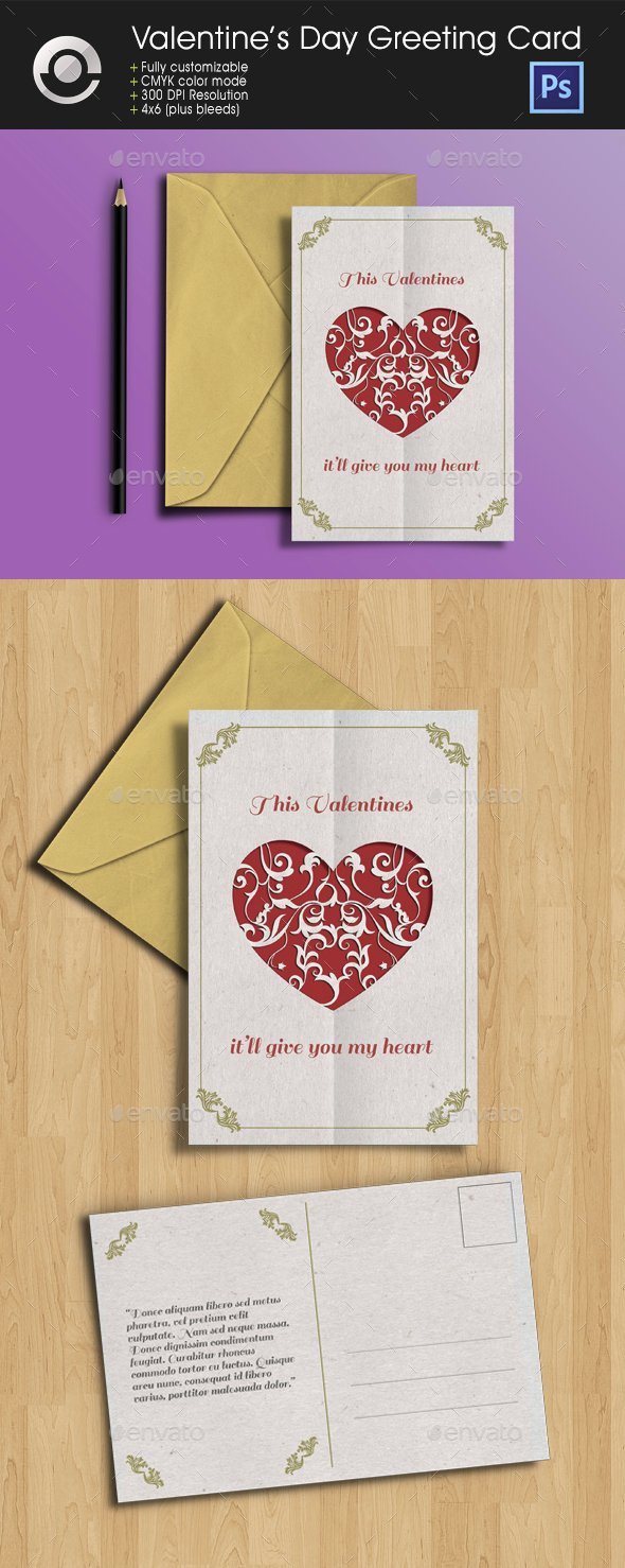 Valentine's Day Greeting Card - Greeting Cards Cards & Invites