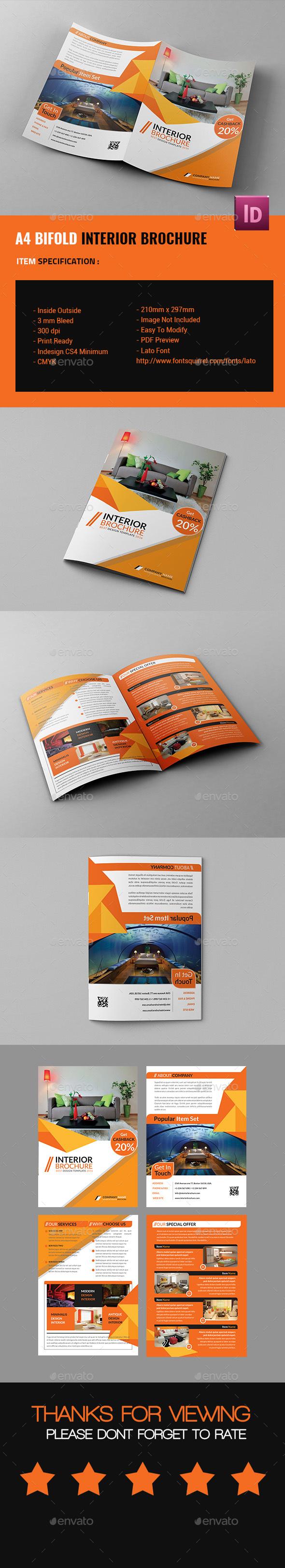 A4 Bifold Interior Design Brochure - Corporate Brochures