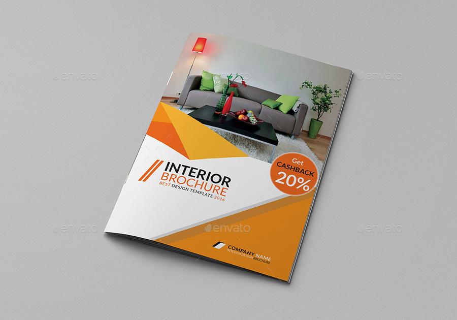 A4 Bifold Interior Design Brochure by tripleEF | GraphicRiver