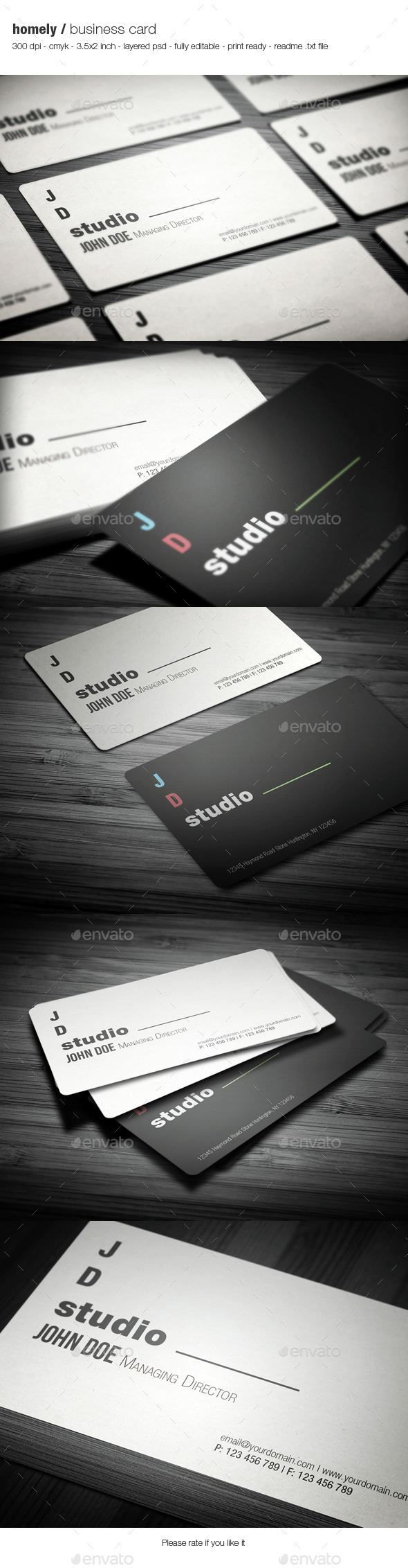 Homely Business Card - Creative Business Cards