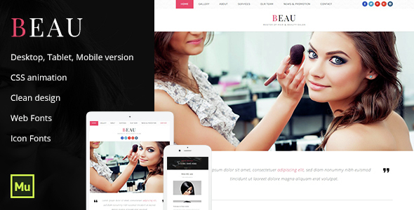 Beau – Beauty Salon Template
