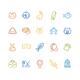 Pet Outline Icon Set - GraphicRiver Item for Sale