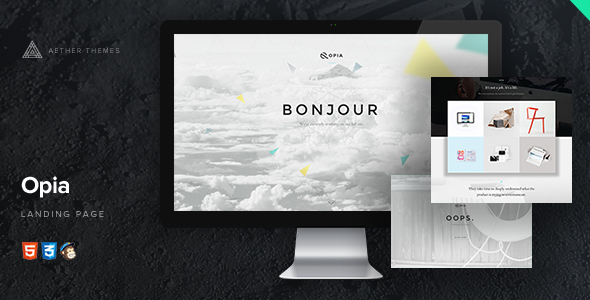 Opia - 3D Parallax Coming Soon Page