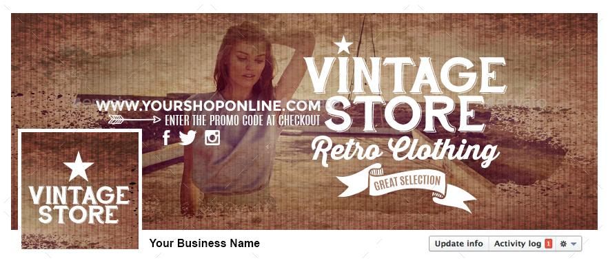 Facebook Timeline Cover - Vintage Store