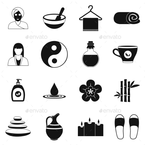 Spa Simple Icons Set  - Miscellaneous Icons